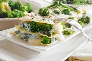 Vegetarische lasagne foto