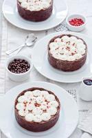 chocolade taartjes foto