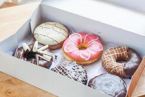 donuts in doos foto