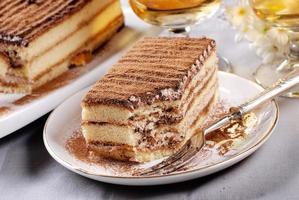 tiramisu, een traditioneel Italiaans dessert foto