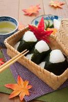 Japans, keuken, onigiri foto