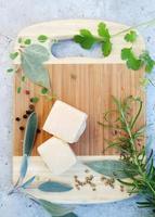 Parmezaanse kaas, bovenaanzicht foto