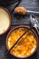 ingrediënt voor traditionele crème brulee