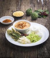 ermented rijstmeel noodles / kanomjeen foto