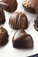 gourmet fancy donkere chocolade truffelsuikergoed foto