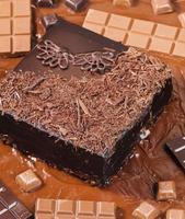 stilleven van chocolade foto