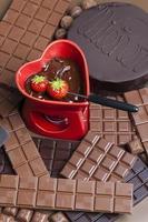 chocolade fondue foto