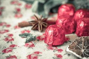 close-up chocolade foto