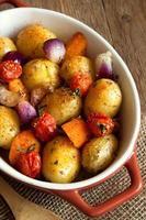 oven gebakken groenten foto