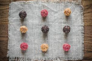 exclusieve truffels: bovenaanzicht foto