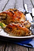 gebakken kip foto