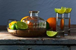 tequila en citrusvruchten foto