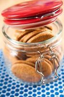 ginger snap creme koekjes in pot foto