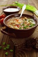 soep met kool en vlees foto