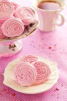 roze appel marshmallows thuis gekookt.