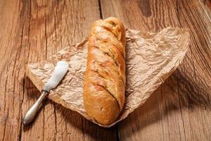 knoflook stokbrood. foto