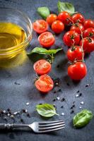 ingrediënten op tafel foto