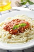 spaghetti met salsa foto