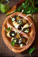 aubergine broodjes foto
