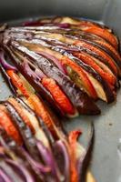 gebakken aubergine