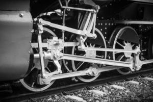 vintage trein, treinwiel foto