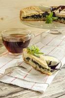 taart met spinazie en eieren foto