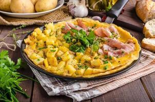 frittata met kruiden en ham