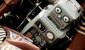 retro robotspeelgoed foto