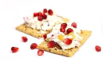 kaas en crackers foto