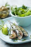 gegrilde sardines foto