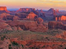 zonsopgang op jacht mesa gezichtspunt foto