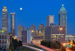 Cityscape van de binnenstad van Atlanta foto
