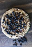 cake met bosbessen foto