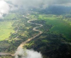 kronkelende rivier foto