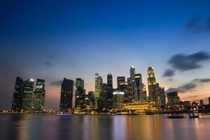 singapore-merlion stad foto