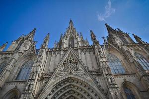 kathedraal van het heilig kruis en heilige eulalia foto