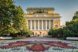 Alexandrinsky-theater in Sint-Petersburg foto