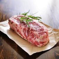 rauwe biefstuk uit New York foto
