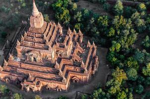 tempel in bagan myanmar foto