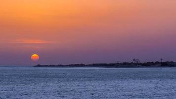 zonsondergang in Dakar foto
