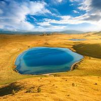 hoogland landschap durmitor nationaal park - montenegro foto