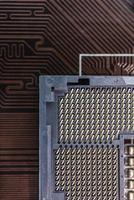 computer stopcontact close-up