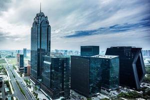 skyline en modern gebouw