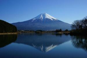 toeristische bestemmingen in Japan met uitzicht op de berg Fuji foto