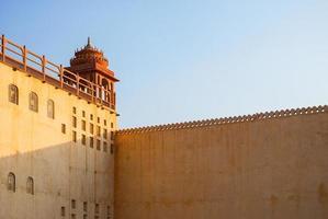 detail van hawa mahal, het paleis van winden, jaipur foto
