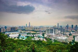 skyline van Shenzhen foto