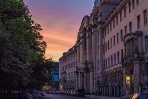 zonsondergang in Berlijn, Mitte foto