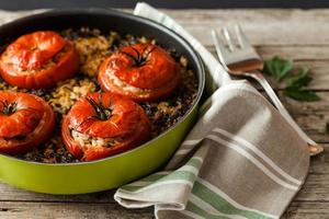 rijst tomaten foto
