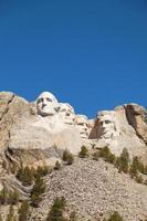 zet rushmore-monument in Zuid-Dakota op foto