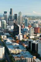 Seattle skyline van het centrum foto